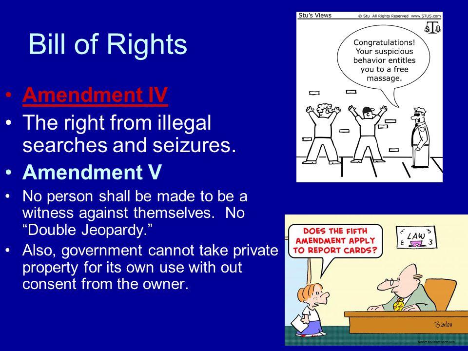 Bill of Rights Amendment IV