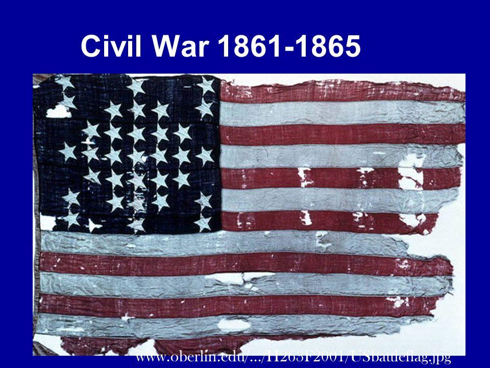 Civil War 1861-1865 www.oberlin.edu/.../H263F2001/USbattleflag.jpg