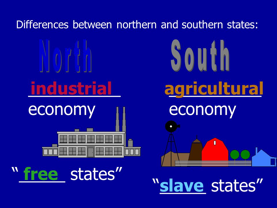 Differences between northern and southern states: