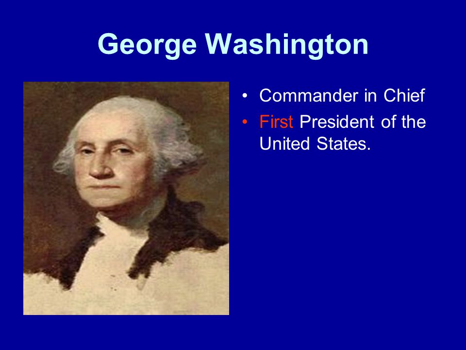 George Washington Commander in Chief