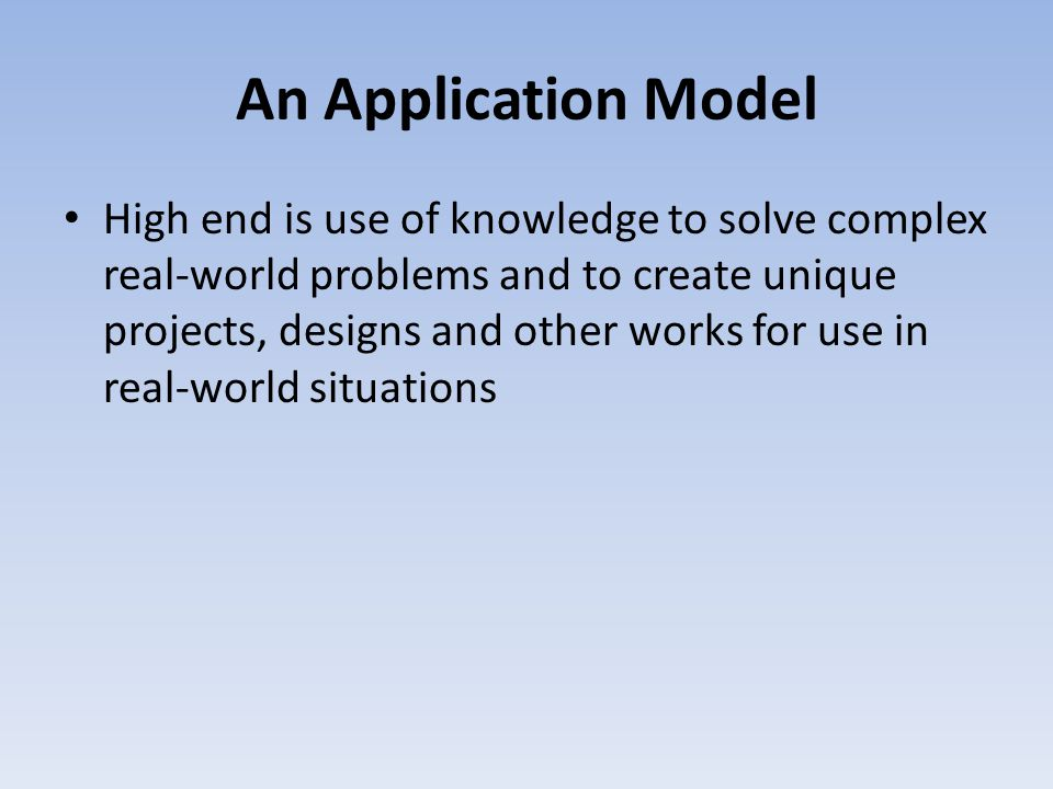 An Application Model