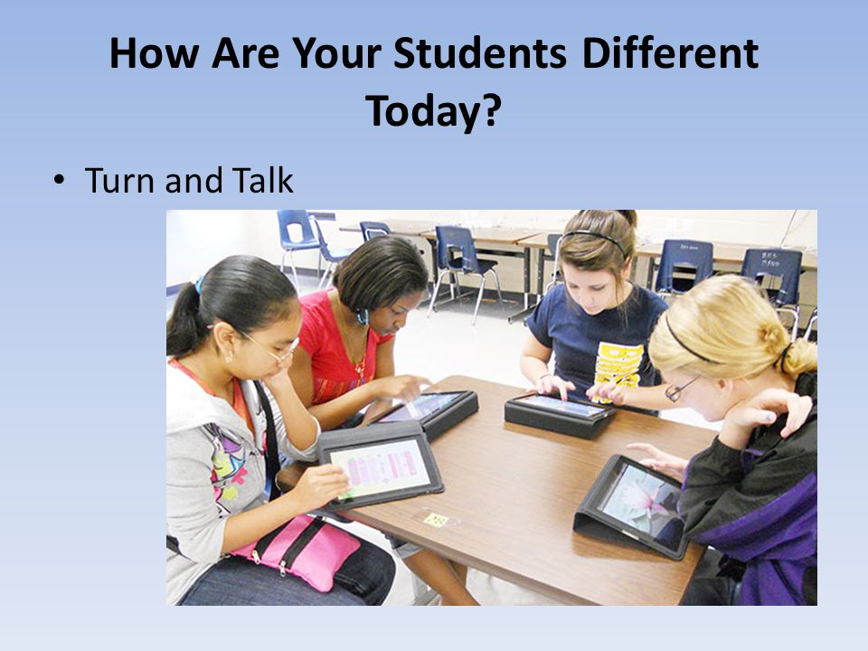 How Are Your Students Different Today