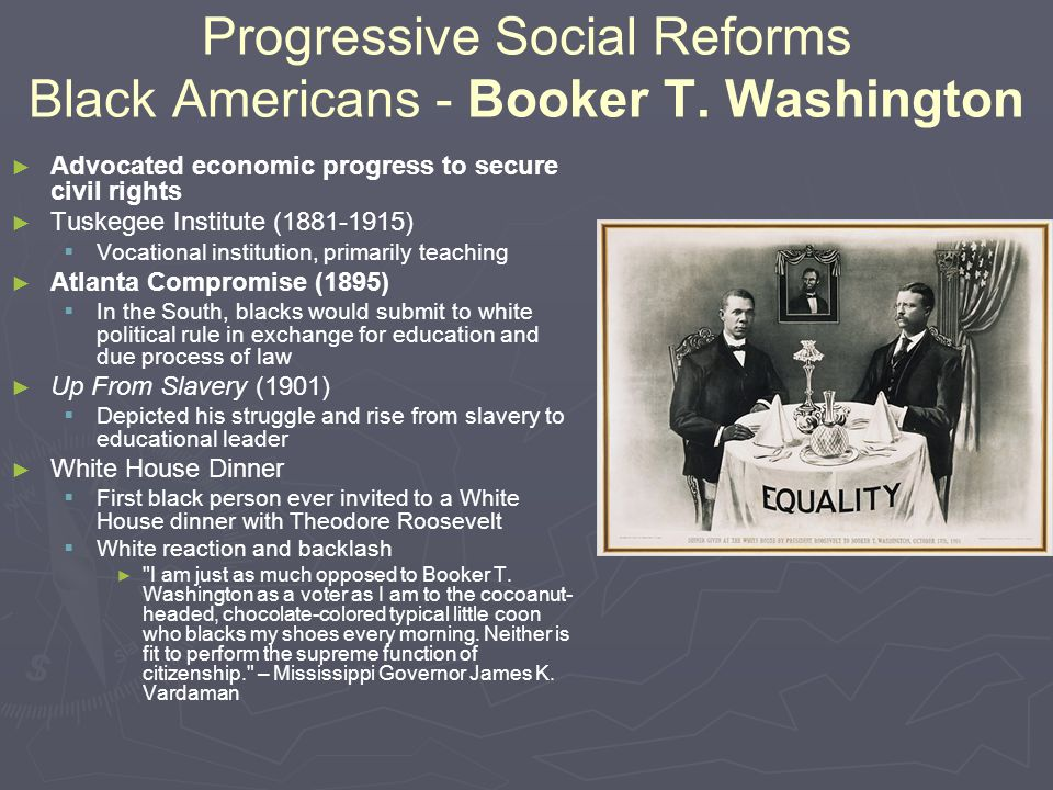 Progressive Social Reforms Black Americans - Booker T. Washington