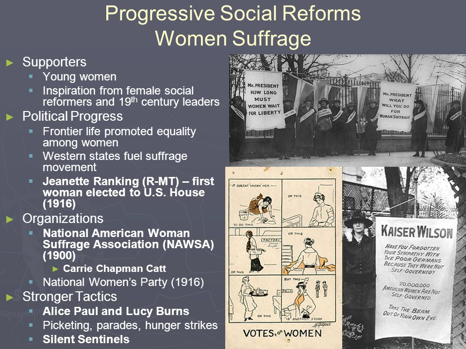 Progressive Social Reforms Women Suffrage