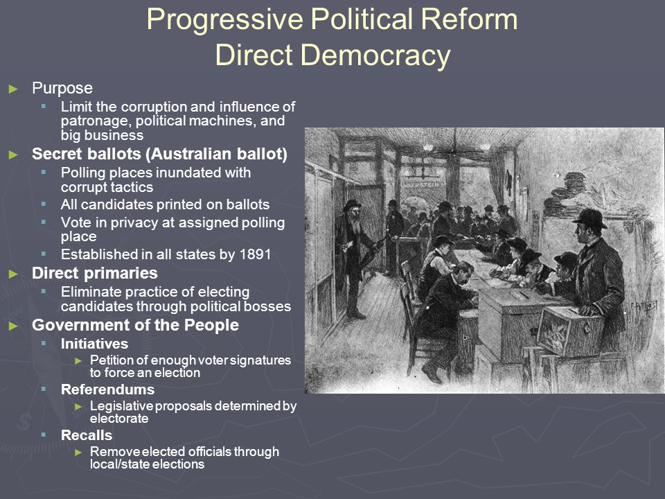 Progressive Political Reform Direct Democracy