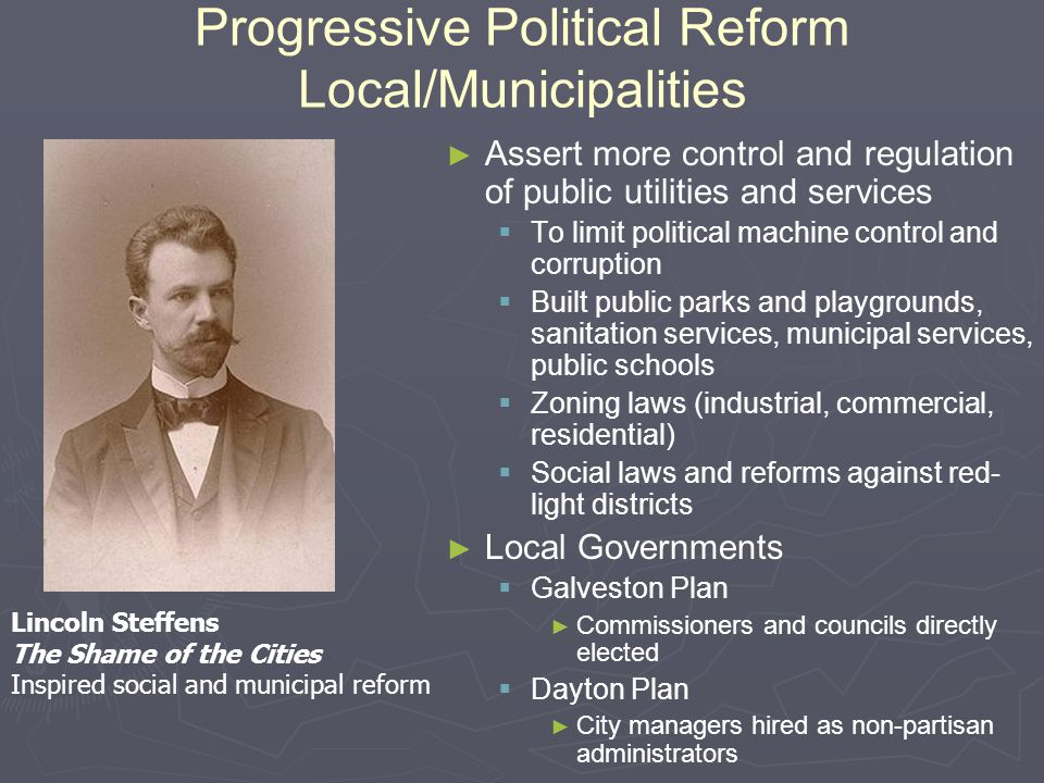 Progressive Political Reform Local/Municipalities
