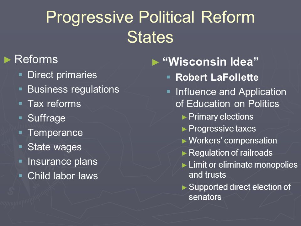 Progressive Political Reform States