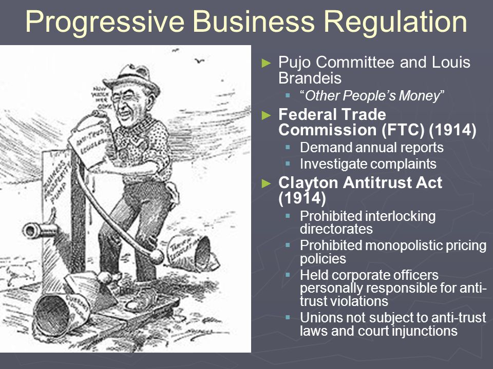 Progressive Business Regulation