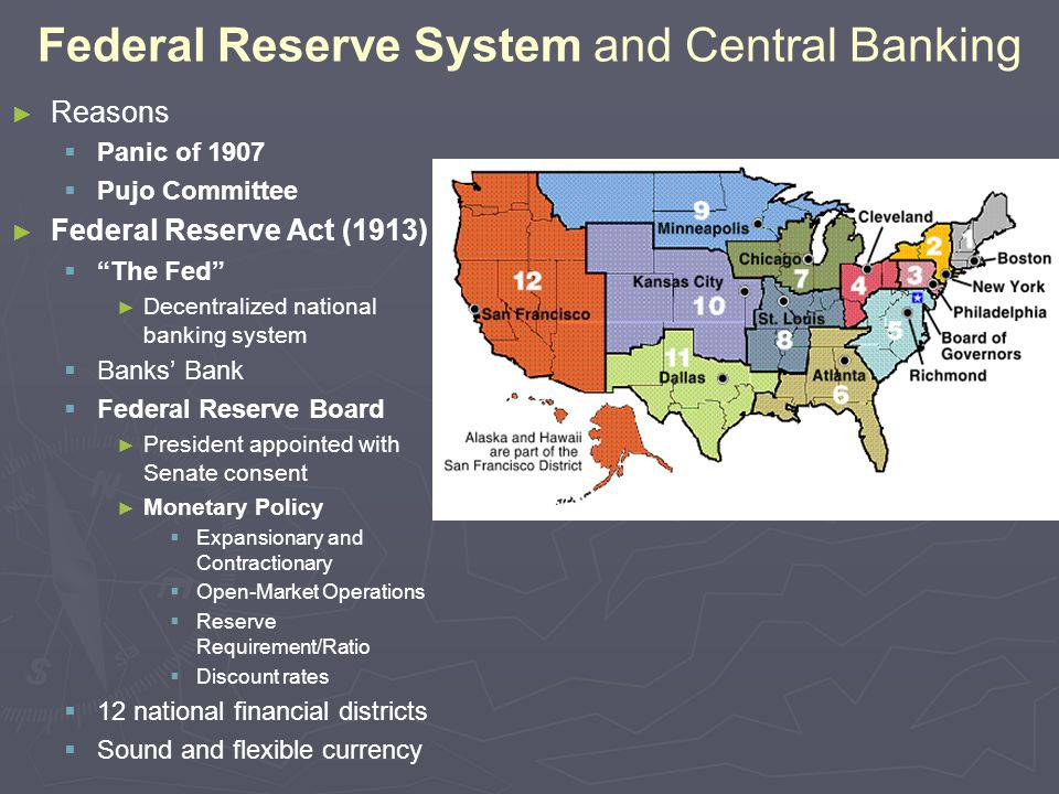 Federal Reserve System and Central Banking