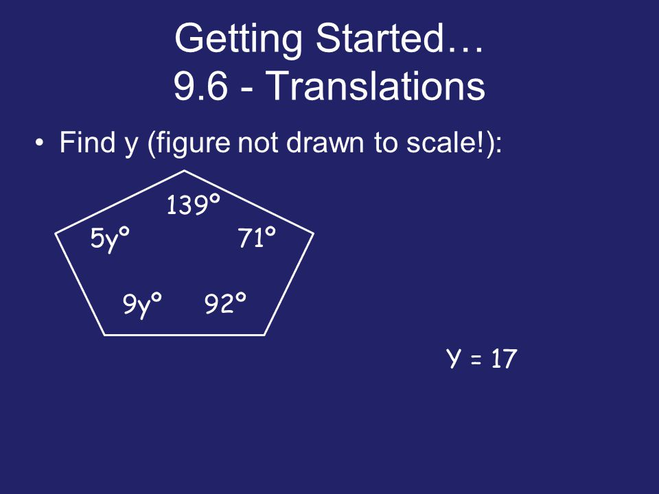 Getting Started… Translations