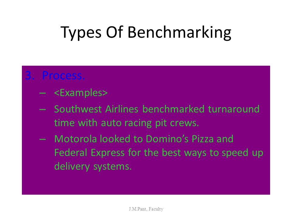 Types Of Benchmarking Process. <Examples>