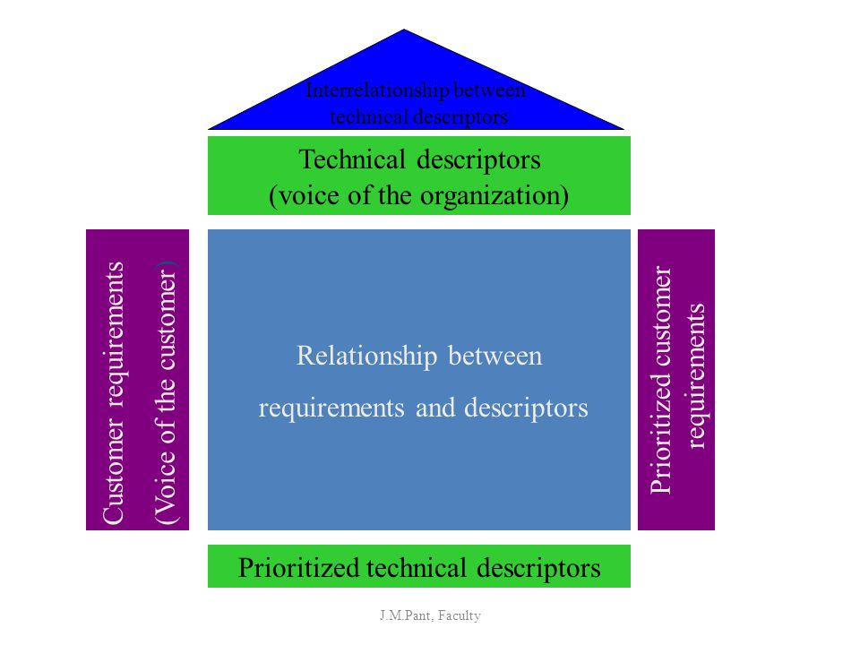 Technical descriptors (voice of the organization)