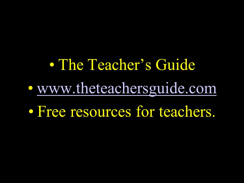 Free resources for teachers.
