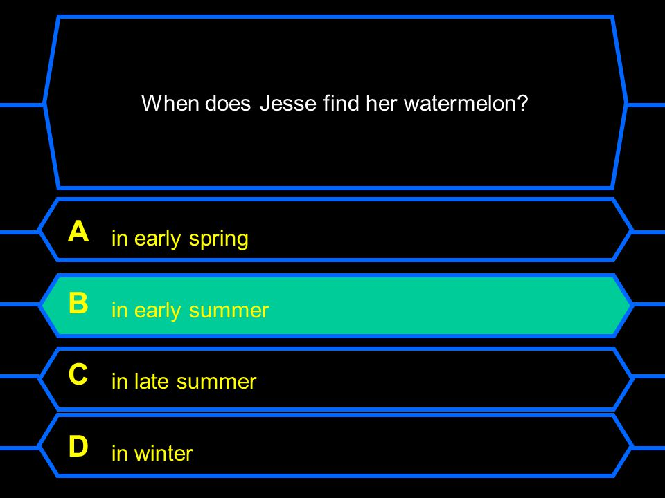 When does Jesse find her watermelon