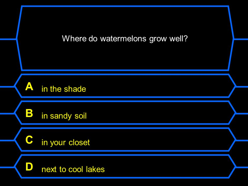Where do watermelons grow well