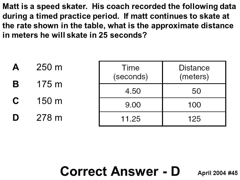 Correct Answer - D A 250 m B 175 m C 150 m D 278 m