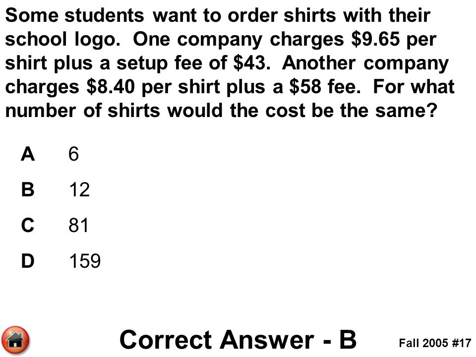 Some students want to order shirts with their school logo