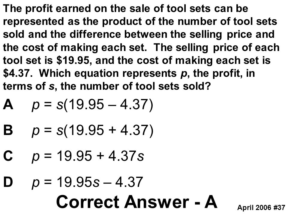 Correct Answer - A A p = s(19.95 – 4.37) B p = s(19.95 + 4.37)