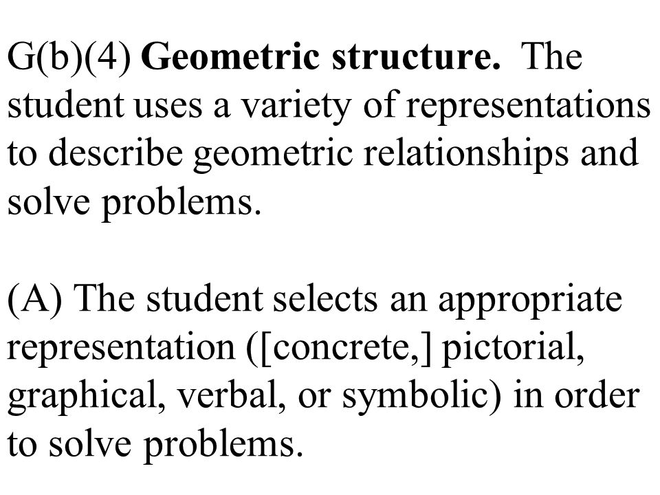 G(b)(4) Geometric structure