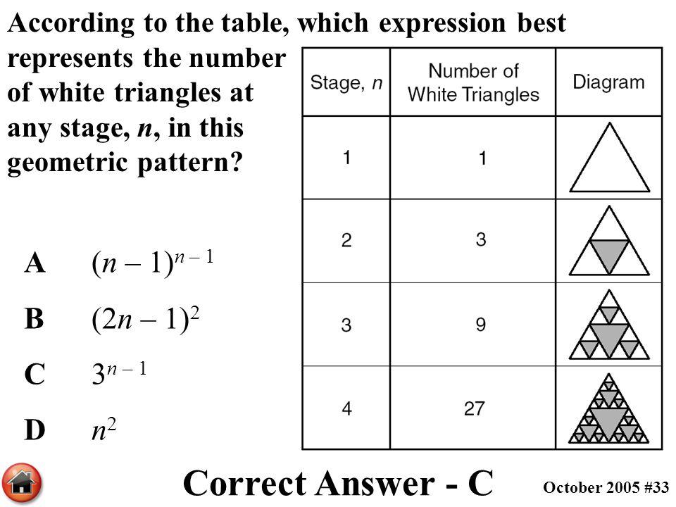 Correct Answer - C A (n – 1)n – 1 B (2n – 1)2 C 3n – 1 D n2