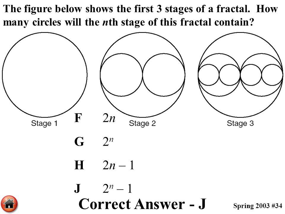 Correct Answer - J F 2n G 2n H 2n – 1 J 2n – 1
