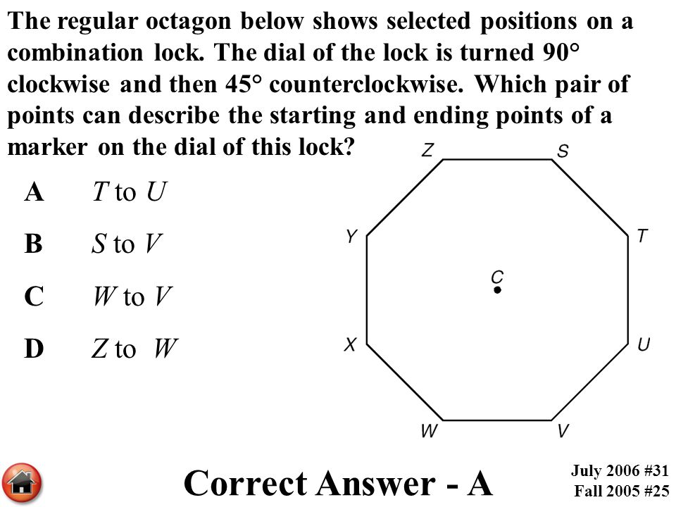 Correct Answer - A A T to U B S to V C W to V D Z to W