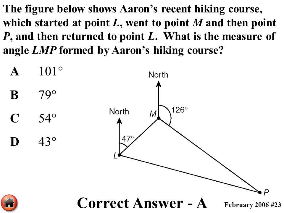 Correct Answer - A A 101° B 79° C 54° D 43°