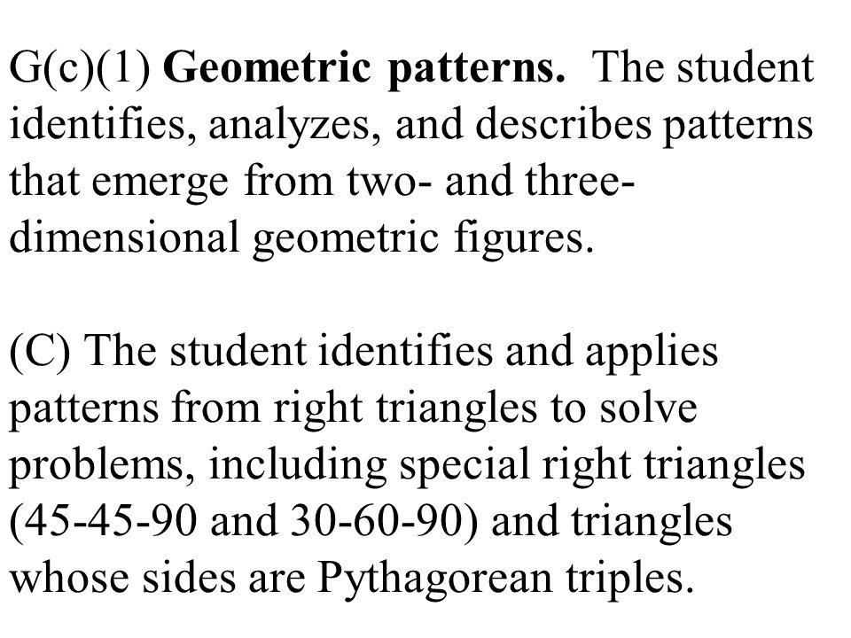 G(c)(1) Geometric patterns