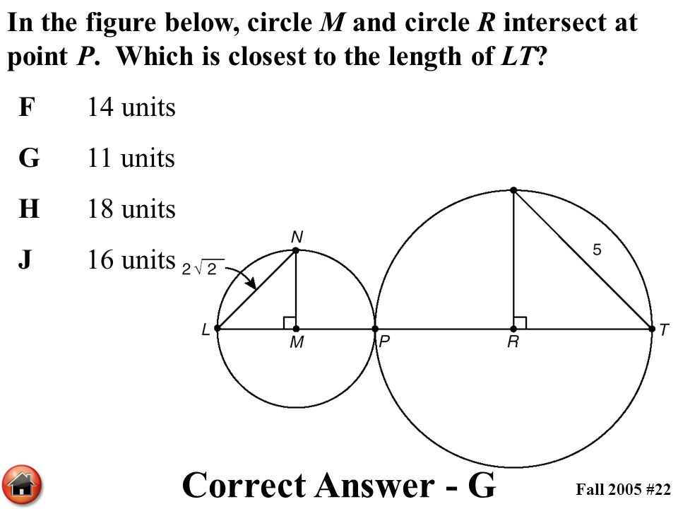 In the figure below, circle M and circle R intersect at point P