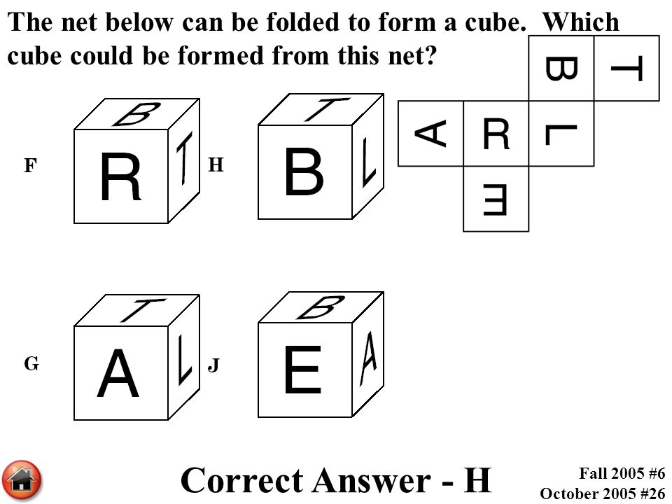 The net below can be folded to form a cube