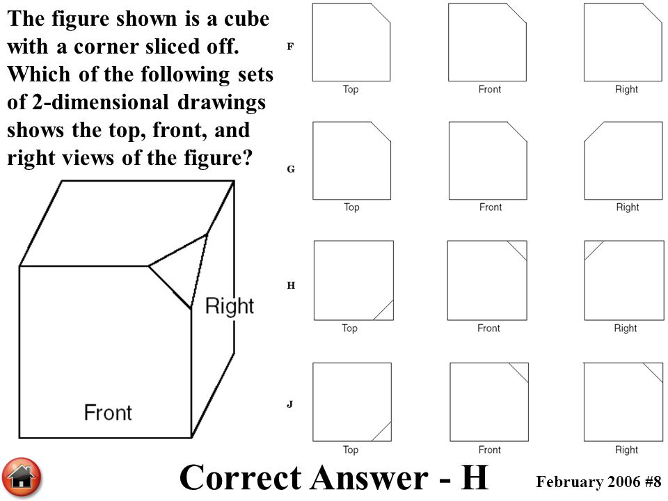 The figure shown is a cube with a corner sliced off