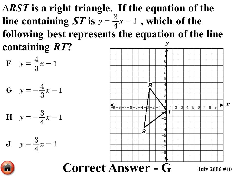 ∆RST is a right triangle