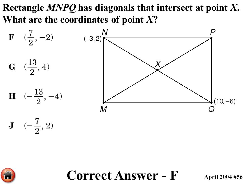 Rectangle MNPQ has diagonals that intersect at point X