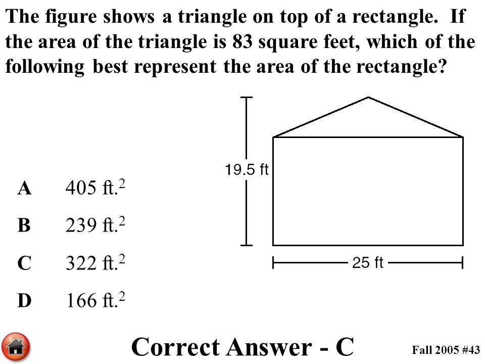 The figure shows a triangle on top of a rectangle