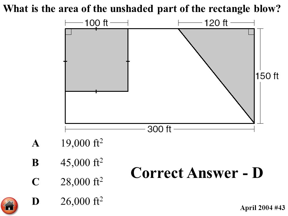 What is the area of the unshaded part of the rectangle blow