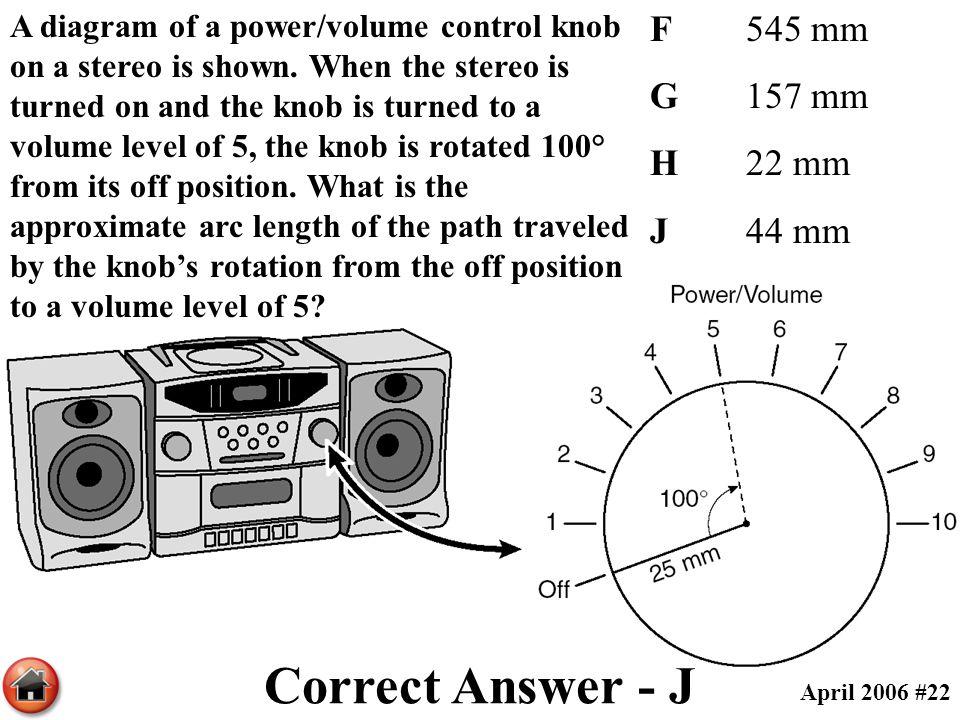 Correct Answer - J F 545 mm G 157 mm H 22 mm J 44 mm