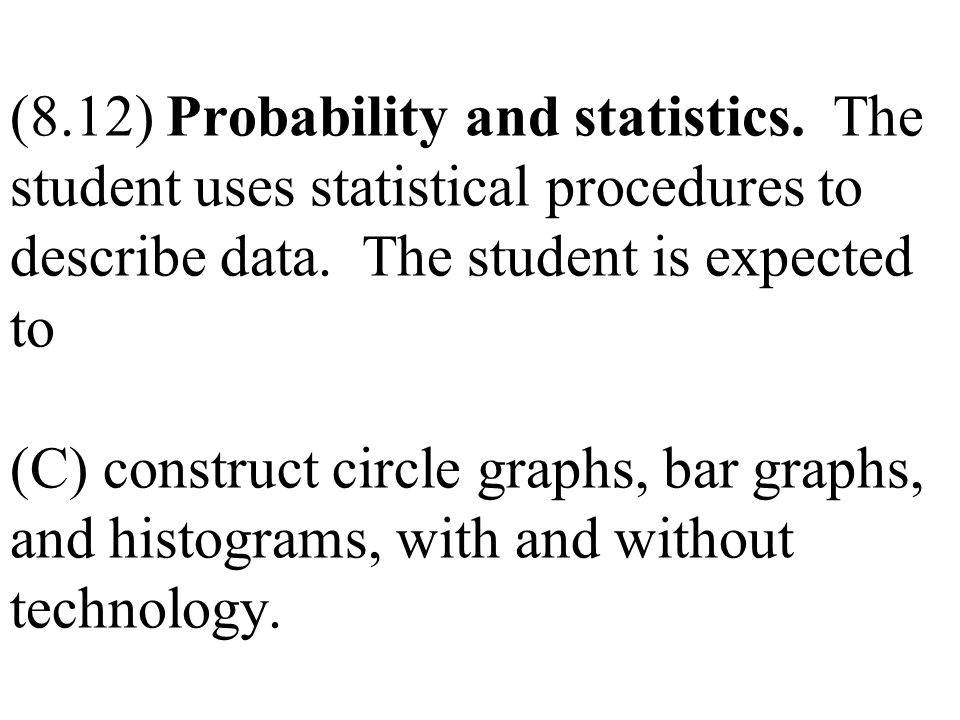(8. 12) Probability and statistics
