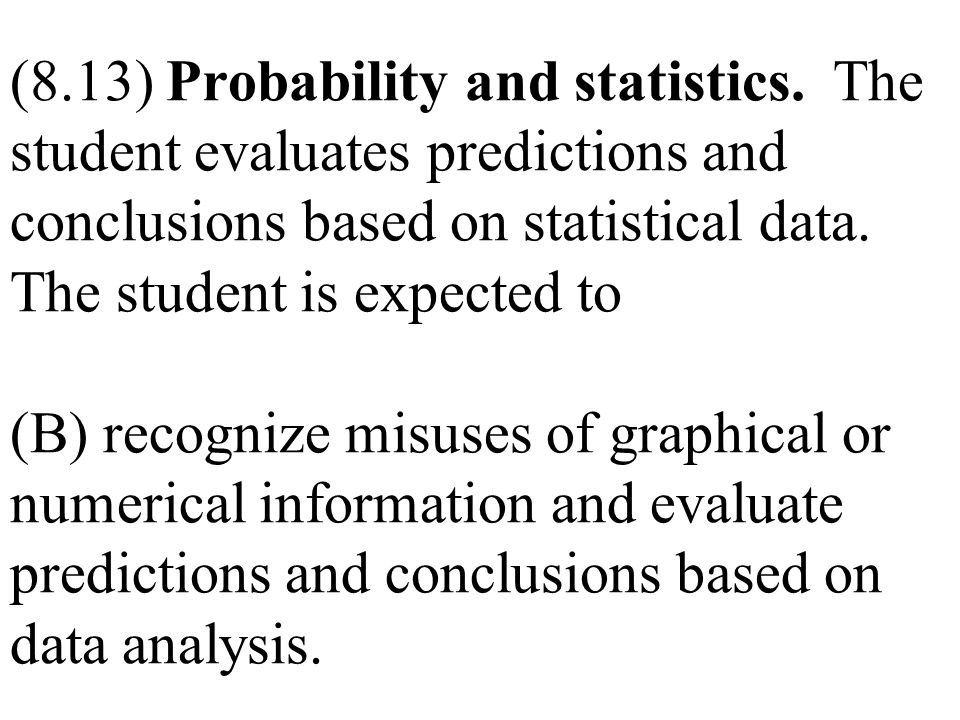 (8. 13) Probability and statistics