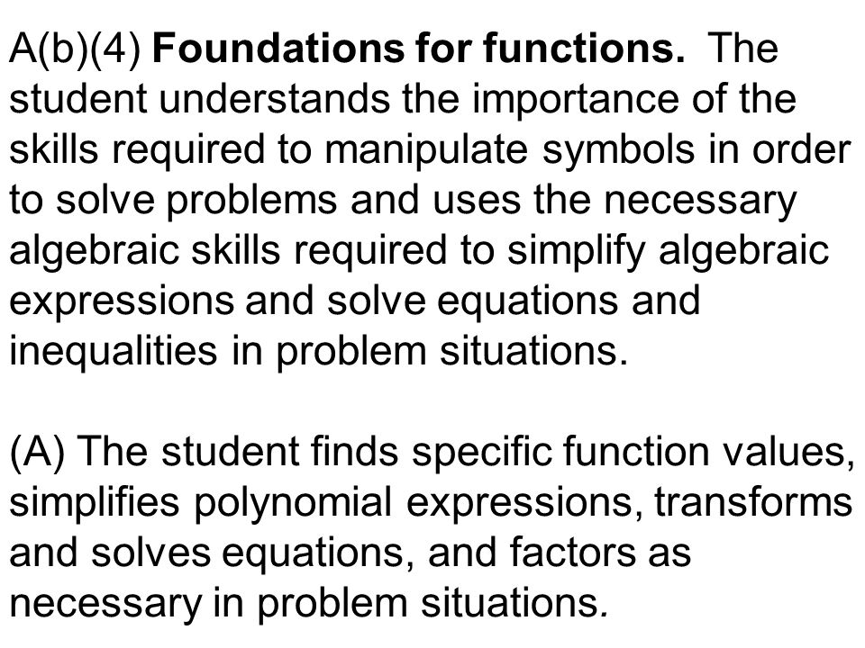 A(b)(4) Foundations for functions