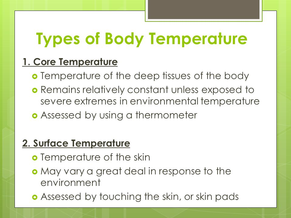 Types of Body Temperature