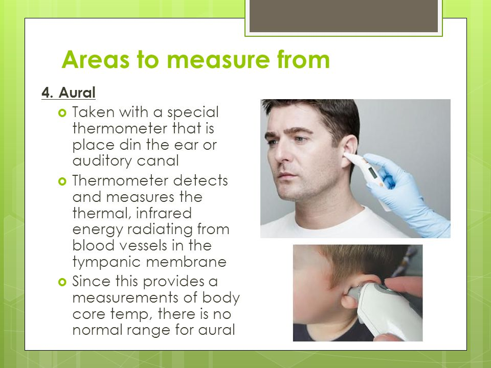 Areas to measure from 4. Aural