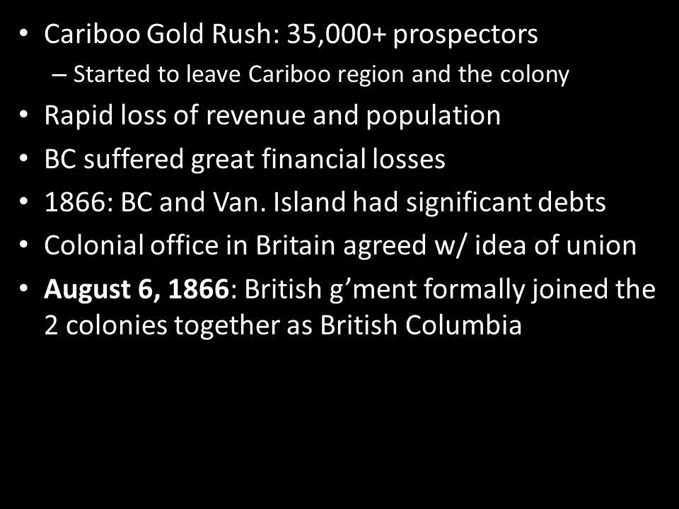 Cariboo Gold Rush: 35,000+ prospectors