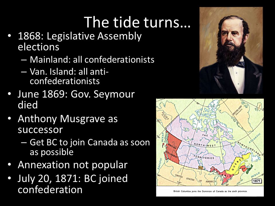 The tide turns… 1868: Legislative Assembly elections