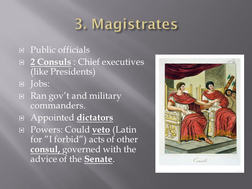 3. Magistrates Public officials