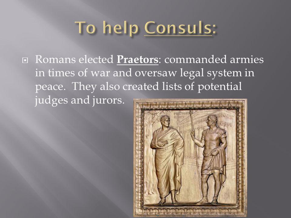 To help Consuls:
