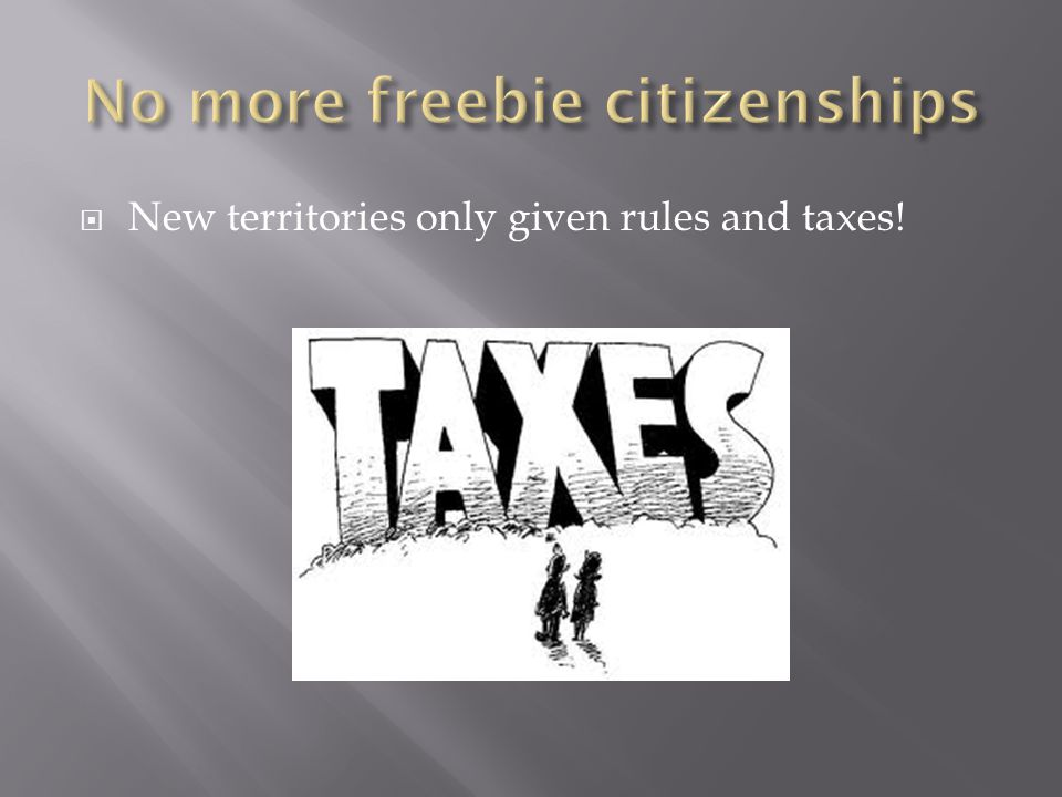 No more freebie citizenships