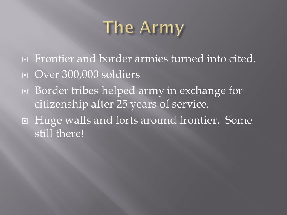 The Army Frontier and border armies turned into cited.