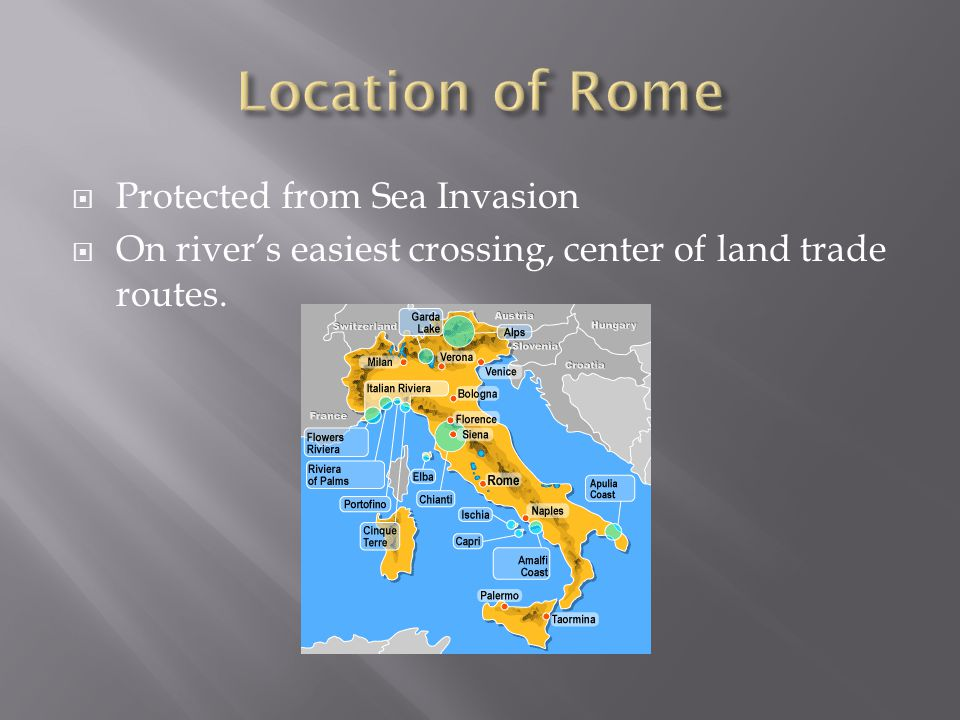Location of Rome Protected from Sea Invasion