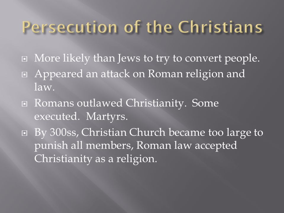 Persecution of the Christians