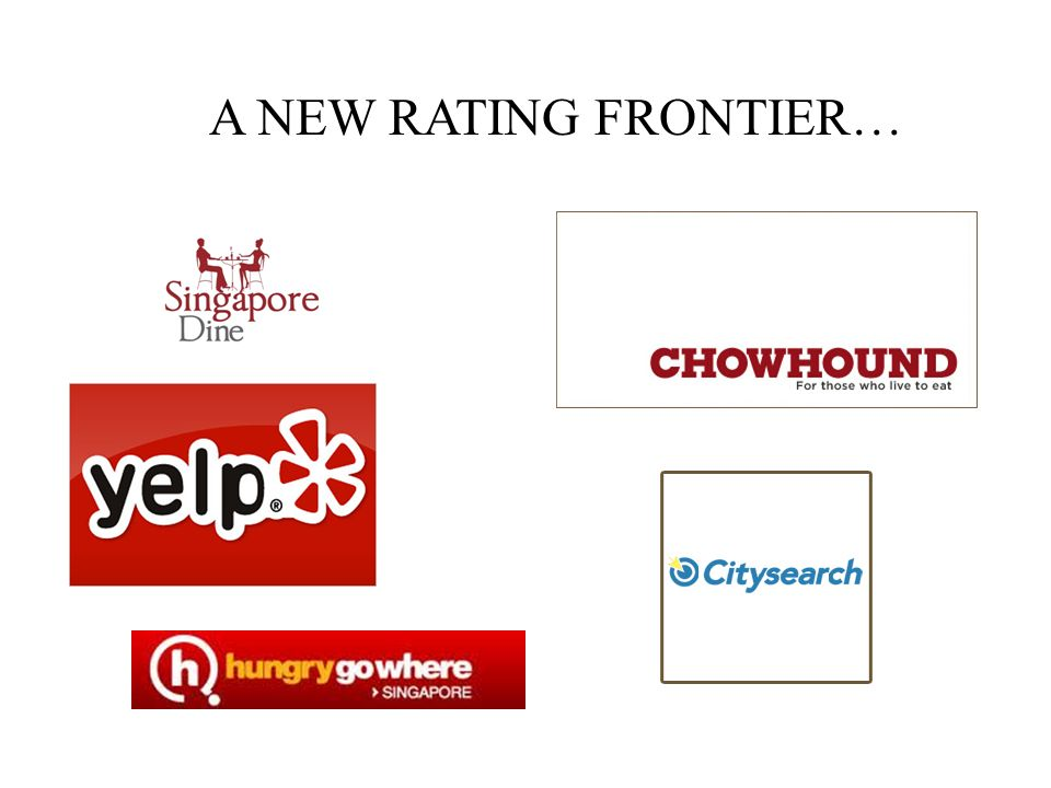 A NEW RATING FRONTIER…